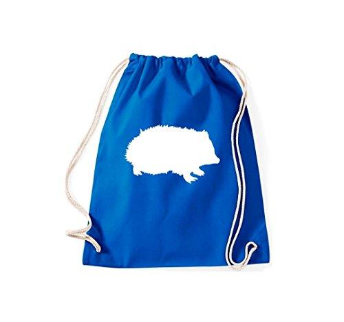 Krokodil - Bolso de tela de algodón para mujer azul real