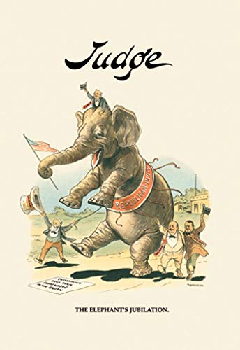 ArtParisienne Judge - The Elephant's Jubilation Grant Hamilton 24x36-inch Wall Decal