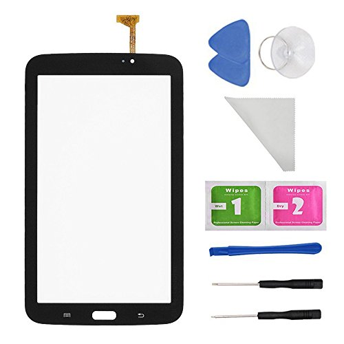 Black Touch Digitizer Screen Replacement for Samsung Galaxy Tab 3 7.0 SM-T210 T210R T210L T217S 217A(WIFI Ver.No Speaker Hole) + PreInstalled Adhesive with tools (Lcd For Samsung Tab 3)