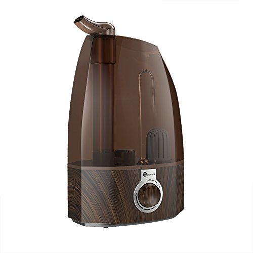 TaoTronics Ultrasonic Humidifiers,3.5L Cool Mist Humidifier for Home Baby Bedroom with Filter, Two 360°Rotatable Mist Outlets, Classic Dial Knob Control - Coffee (3.5L/0.92 Gallon, US 110V)