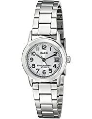 Casio Womens LTP-S100D-7BVCF Easy-To-Read Solar Stainless Steel Watch