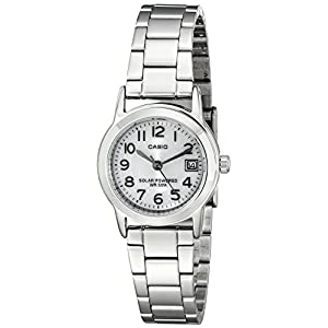 41qUeNLl1QL. SS300  - Casio Women's LTP-S100D-7BVCF Easy-To-Read Solar Stainless Steel Watch