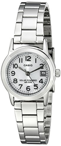 Casio Women's LTP-S100D-7BVCF Easy-To-Read Solar Powered Stainless Steel Watch ()