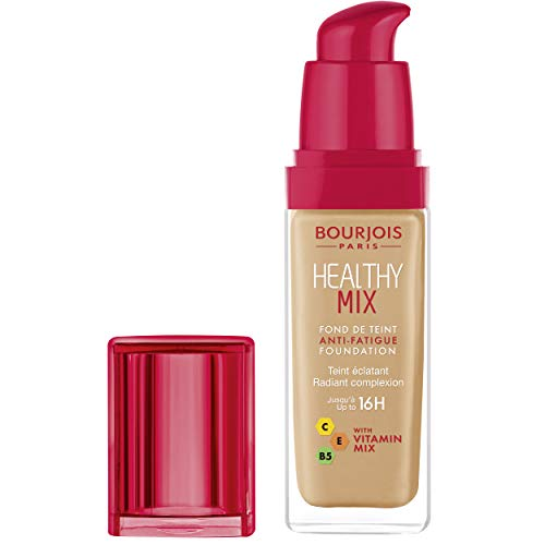 Bourjois Healthy Mix Anti-Fatigue Medium Coverage Liquid Foundation 56 Light Tan, 3ml (The Best Drugstore Foundation 2019)