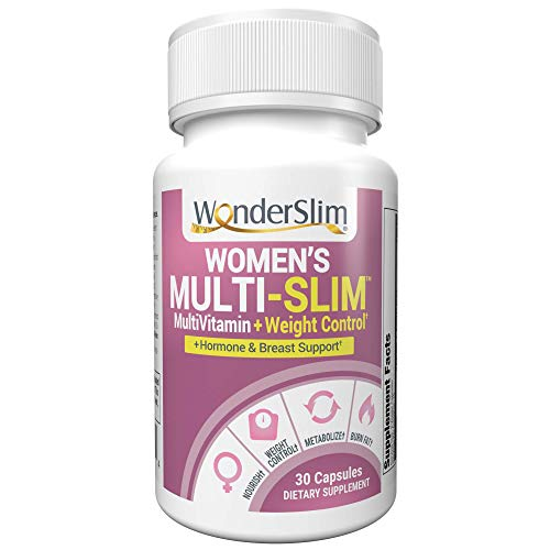 Multi-Slim Women's MultiVitamin | Vitamin for Women with Turmeric Curcumin & Black Cohosh for Breast Health & Hormone Balance, 30 Ct