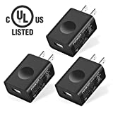 UL Certified USB Wall Charger, FONKEN 3-Pack 5V 2A Power Adapter universal travel