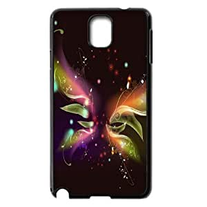 JFLIFE Butterfly Phone Case for samsung galaxy note3 Black Shell Phone [Pattern-5]