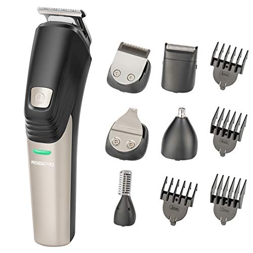 Beard Trimmer for Men Hair Clippers 6 in 1 Hair Trimmer Pro Haircut Kit Cordless USB Rechargeable Waterproof Fast Charge