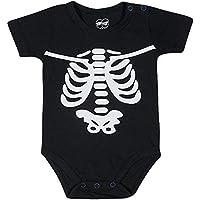 Body  Manga Curta Esqueleto, TipTop, Bebê Unissex
