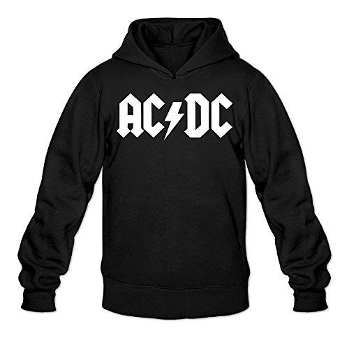 Angus Young Costume Women (CYANY AC/DC Australian Rock Heavy Metal Band Women's Graphic Hoodies Sweatshirt MBlack)