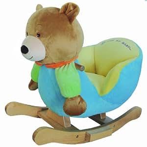 knorr-baby 60005 Ben Boy - Balancín en forma de oso de peluche (61 x 32 x 52 cm), color azul [importado de Alemania]