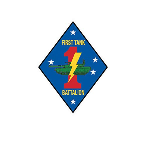 (1st Tank Battalion USMC V2 Marine Sticker Decal Vinyl Marines Corp Vinyl Decal Sticker Car Waterproof Car Decal Bumper Sticker)