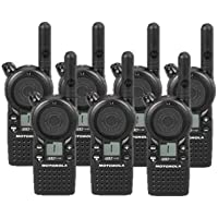 7 Pack of Motorola CLS1110 Two-way Radios with Programming Video
