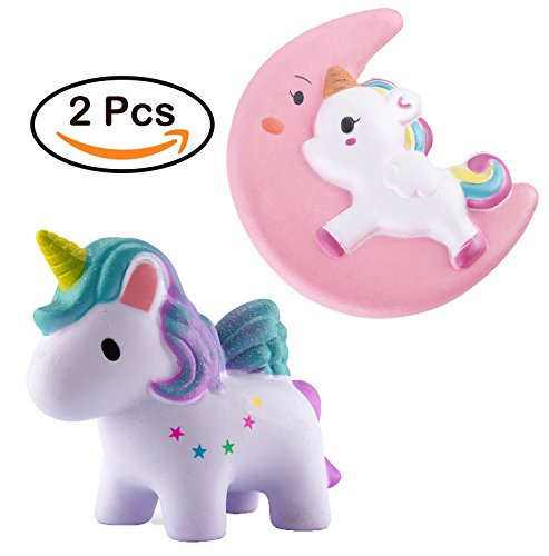 Chekue Slow Rising Squishies - Cute Kawaii Scented Squishy Simulation Lovely Toy Medium Mini Soft Food squishies, Stress Relief and Fun! (Unicorn)