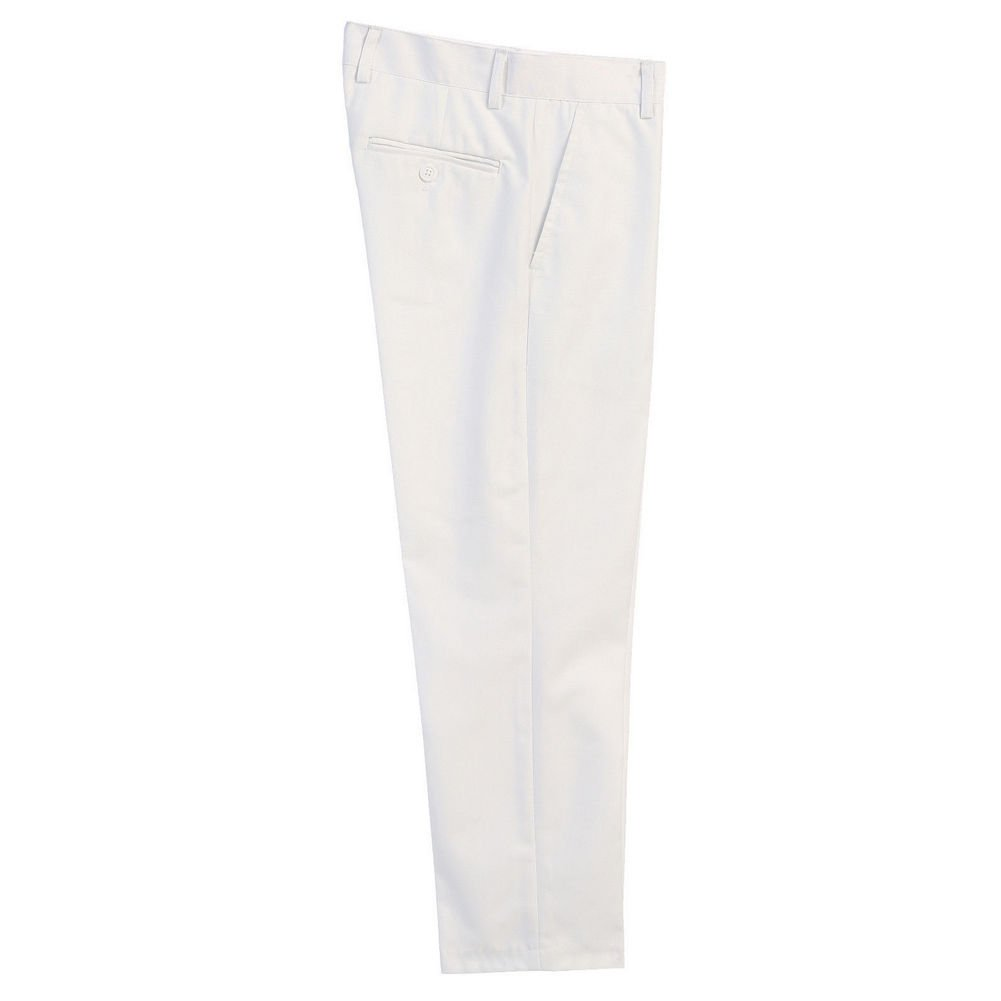 B-One Big Boys White Flat Front Formal Special Occasion Dress Pants 8