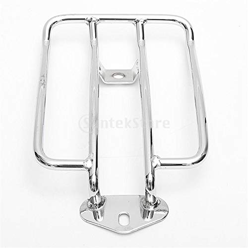 Homyl Cargo Rack Luggage Carrier Rear Tail Holder CNC for Harley XL883 Motorcycle (Silver) ()