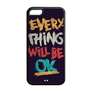 6 plus (5.5) Phone Cases, Everything Will Be OK Hard TPU Rubber Cover Case for iPhone 6 plus (5.5)