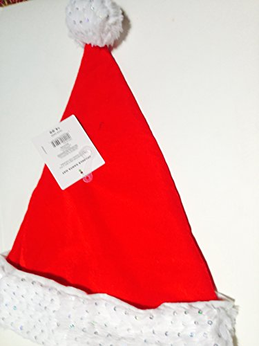 Santa Costume Walgreens (DELUXE ADULT SILVER SEQUIN SPARKLE ON WHITE PLUSH BAND AND RED VELOUR SANTA HAT 17)