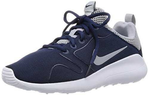 Nike Men's Kaishi 2.0 Running Shoe Midnight Navy/Wolf Grey-White 8