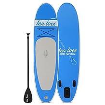 Ten Toes Boards Ten Toes Board Emporium Weekender Inflatable Stand up Paddle Board Bundle, Blue, Medium/10-Feet