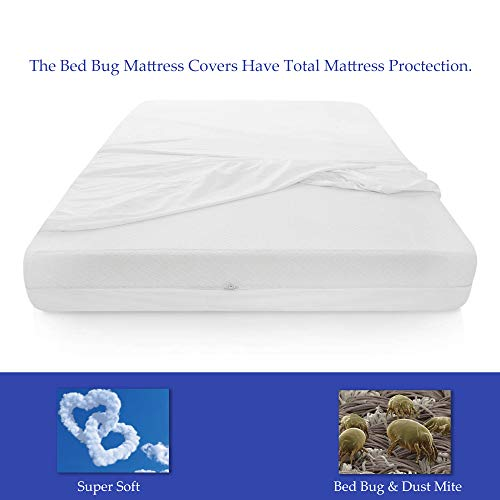 Continental Mattress, 6-9 Inch Box Spring Protector Covers Bed Bug Proof/Water Proof Fits Mattress, Queen Size (Sets Encasement Box Spring And Mattress)