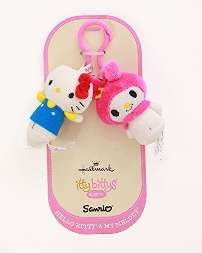 Hallmark Hello Kitty & My Melody Itty Bitty Clippy Set (Continental Rucksack)