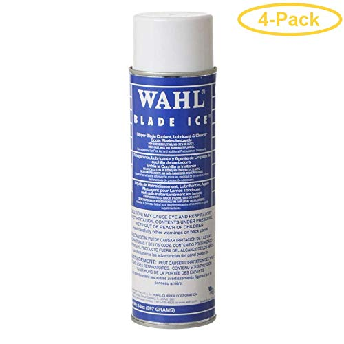 - WAHL Blade Ice Clipper Blade Coolant - Lubricant & Cleaner 14 oz - Pack of 4