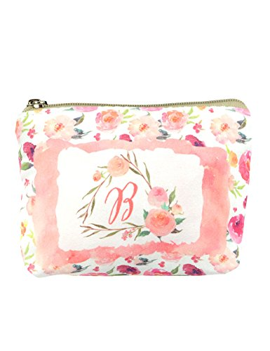 Floral Coin Purse - POPUCT Women's Canvas Mini Card Hold Coin Purse with Zip(Floral)