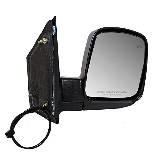 Passengers Power Side View Mirror Heated Replacement for Chevrolet GMC Van 15937981 (Mirror Power Van Heated)