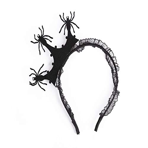 Halloween Kids Child Spider Crown Headband Hair Band Masquerade Prom Party