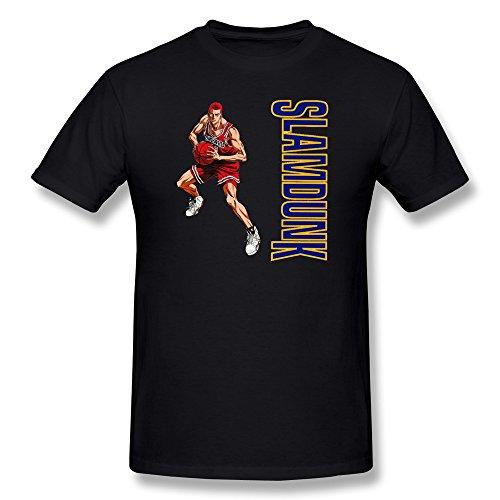 AnneLano Men's Slam Dunk Anime T Shirt Small Black