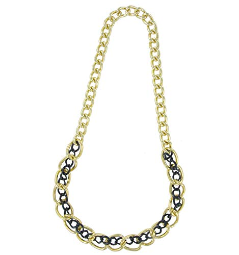Necklace Chain New Big Gold Tone Black Chunky Link 23