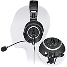 Audio-Technica ATH-M50x Professional Studio Headphone - INCLUDES - Antlion Audio ModMic Attachable Boom Microphone - Noise Cancelling w/ Mute Switch + Y Splitter - ULTIMATE GAMING BUNDLE