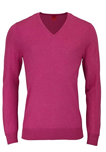 OLYMP Level Five Stick body fit Pullover V-Ausschnitt hibiskus