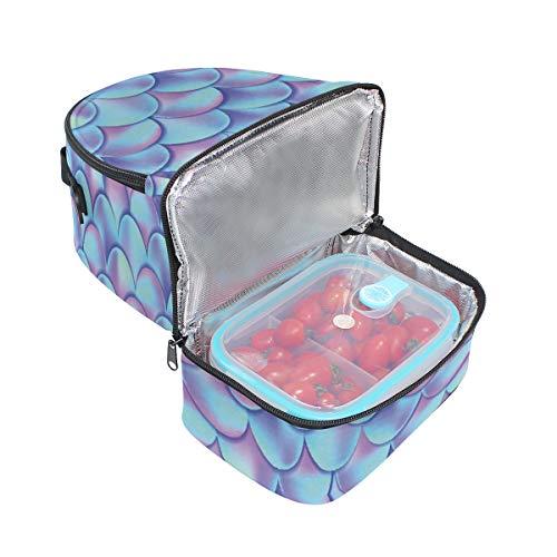 à bandoulière réglable Alinlo Pincnic Échelle pour Cooler Sac sirène Boîte avec Tote l'école à isotherme coloré lunch AAHIq1