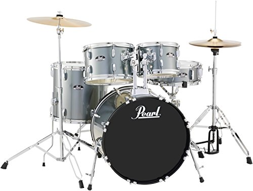 Pearl RS525SCC31 Roadshow 5-Piece Drum Set, Jet Black