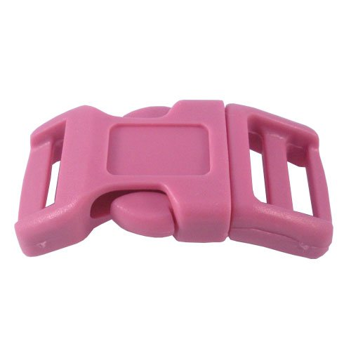 Pink 1/2 Inch Economy Side Release Plastic Buckles - 10 Pack (10)