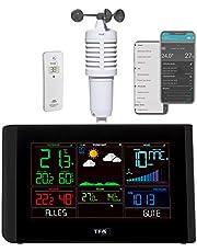 TFA Dostmann Breeze, 35.8001.01, wifi-weerstation, incl. windmeter, professionele weersvoorspelling, gratis VIEW-app, barometer, instelbare alarmen, dauwpunt, zwart, (L) 229 x (B) 27 (83) x (H) 137 mm