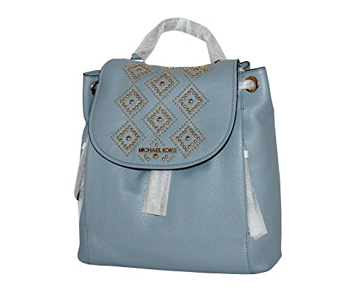 Michael Kors light blue purse | Michael Kors Riley Leather Backpack (Pale Blue)