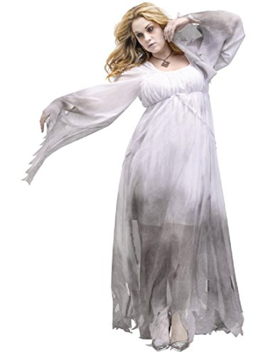 FunWorld Gothic Ghost Plus Size Costume White ()