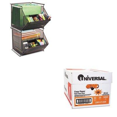 KITSAF2164BLUNV21200 - Value Kit - Safco Onyx Stackable Mesh Storage Bin (SAF2164BL) and Universal Copy Paper (UNV21200)