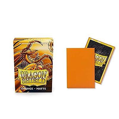 Dragon Shield Matte Mini Japanese Orange 60 ct Card Sleeves Individual Pack: Toys & Games