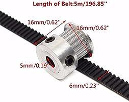UEETEK Impresora 3D accesorio 8pcs 5mm 20 dientes rueda de polea ...