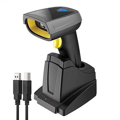 Inateck 2D QR Lector de códigos de Barra Inalámbrico, códigosi QR con Base Smart, Bluetooth, Lectura sobre Pantalla…