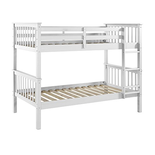 WE Furniture Solid Wood Mission Design Bunk Bed,