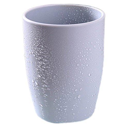 350ml Plain Plastic Couple Mouthwash Cup Rinsing Mug Creative Thick Round Water Mug (8 x 11 cm)(350ml,gray) -