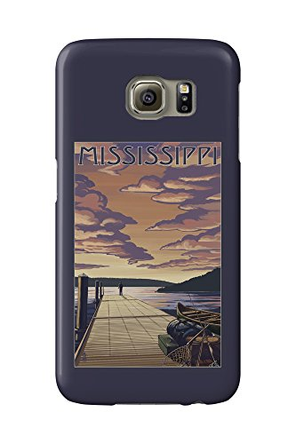 Mississippi - Dock Scene and Lake (Galaxy S6 Cell Phone Case, Slim Barely There) -  Lantern Press, LANT-3P-CS-GLS6BT-69022
