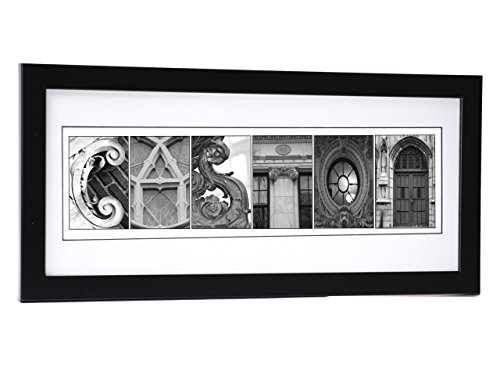 Architectural Letter - Creative Letter Art Personalized Wedding Name Sign created with Architectural Alphabet Photography includes 12 by 26 inch Frame with Mat - Best Wedding Gift