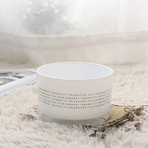 Supreme Lights Glass Bowl Votive Tealight Candle Holder, White Sara Finish with Wordings for Wedding, Party, Home Decor-5x3inches ()