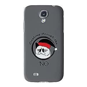 Grumpy Cat exquisito través de la no Full Wrap Case Impreso en 3d gran calidad, Snap-on Cover para Samsung Galaxy S4, diseño de barbacoa